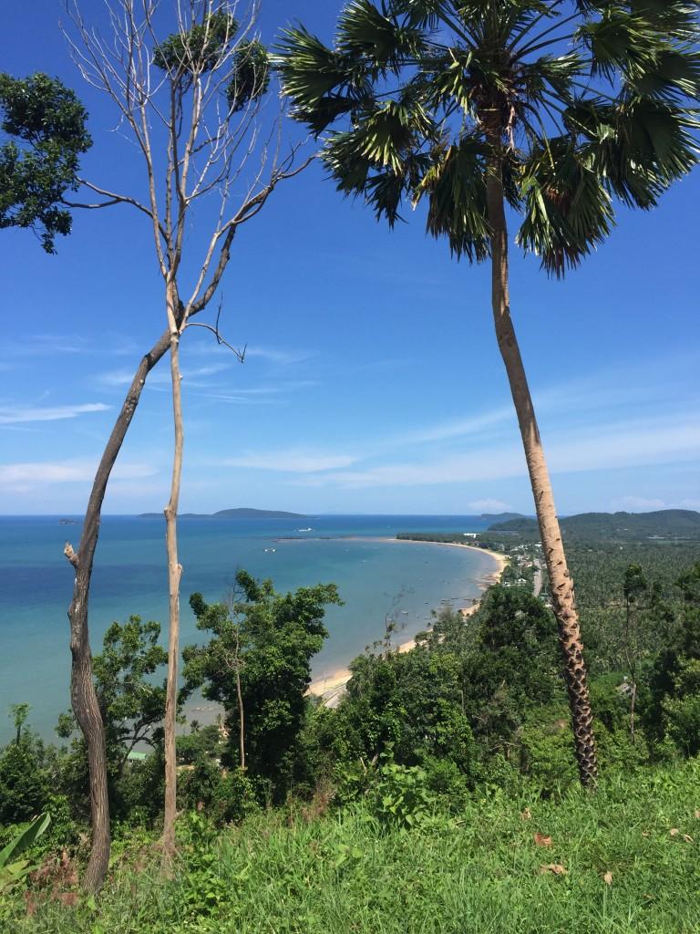 Aussichtsplattform Meer Palmen,Urlaub und Auswandern Chumphon, Thailand