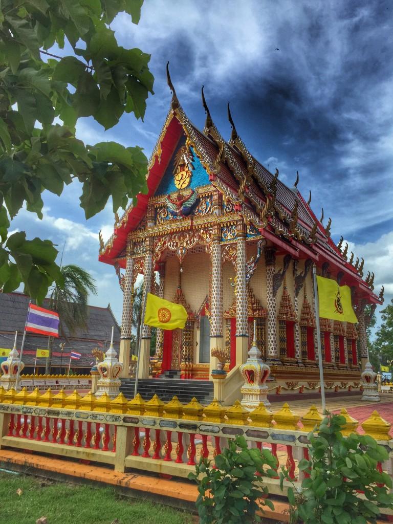 Tempel in Chumphon, Pak Naam, Thailand,