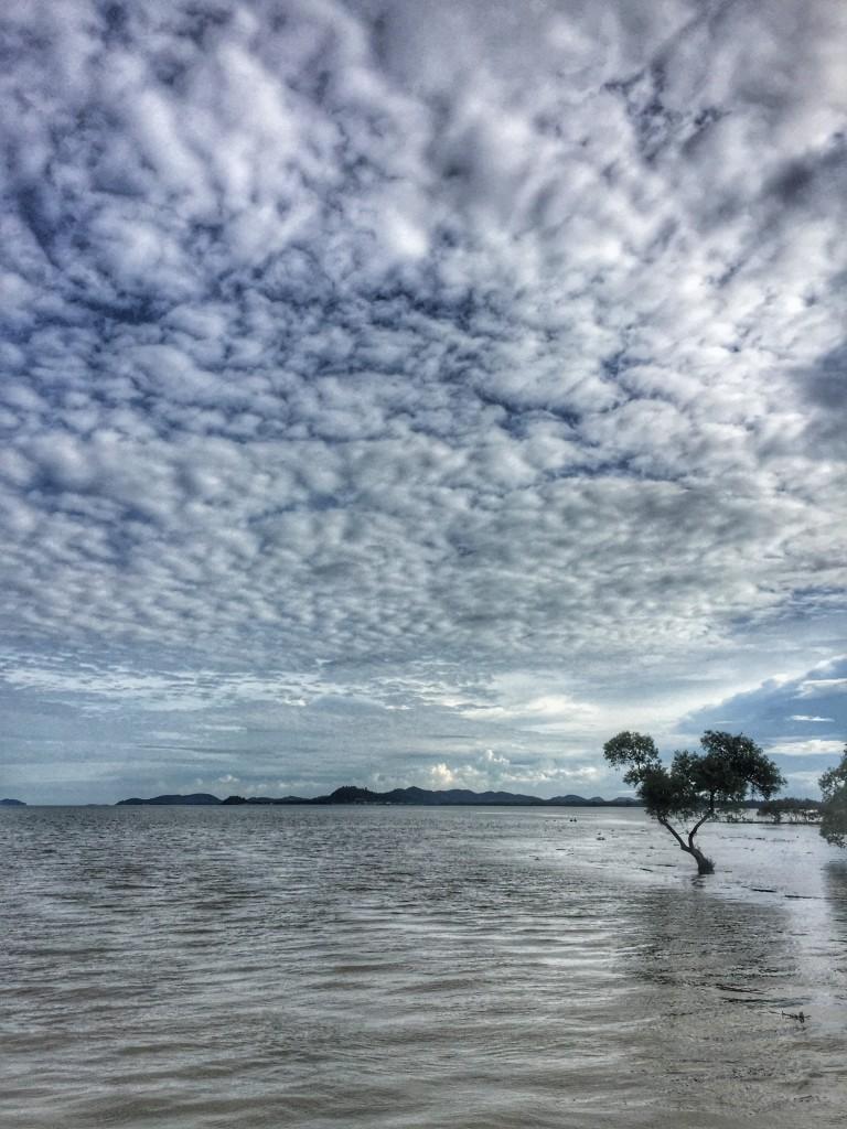 Meeresbucht, Thailand Chumphon, Wolken,