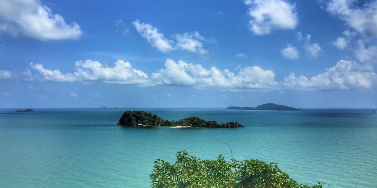 Wolken Himmel Insel Meer Auswandern nach Chumphon Thailand
