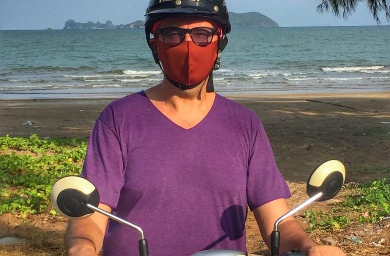Immer mit Maske in Thailand während Covid-19