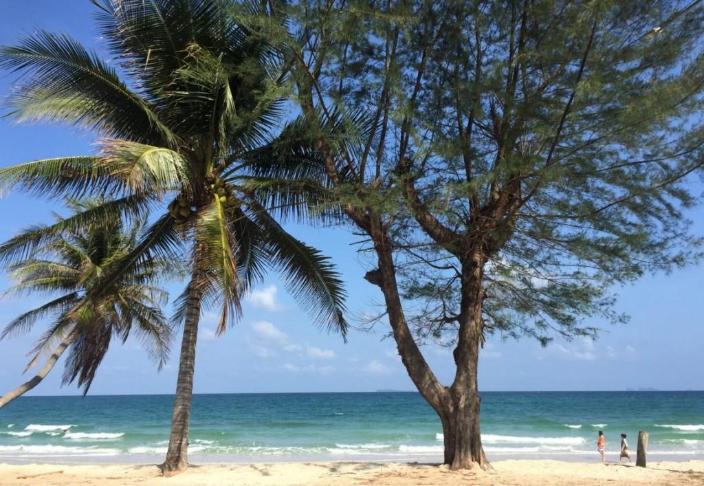 Palmen Meer Strand Chumphon, Thailand