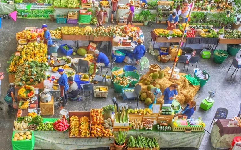 Markttag Pak Naam, Chumphon Thailand