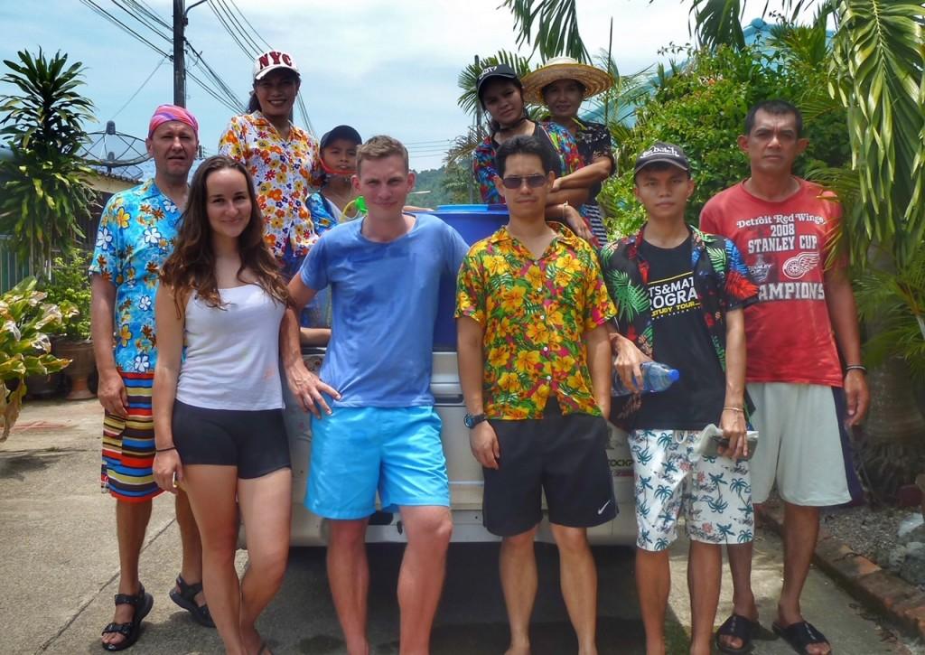 Sonkran im April, Neujahr Feiertage in Thailand