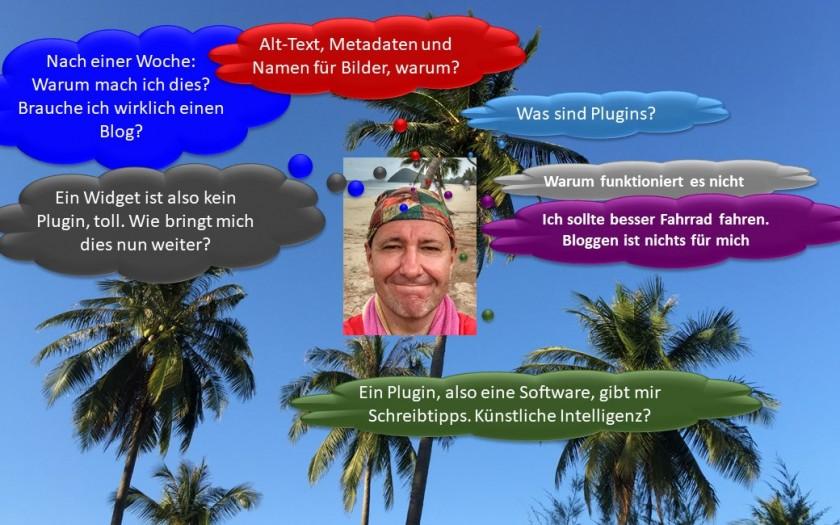 Bloggen für Anfänger, meine Erfahrungen im Aufbau eines Blogs