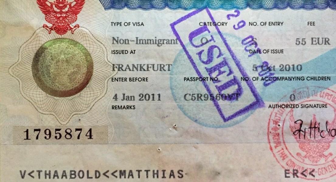 Mein Non-Immigrant Visum Thailand