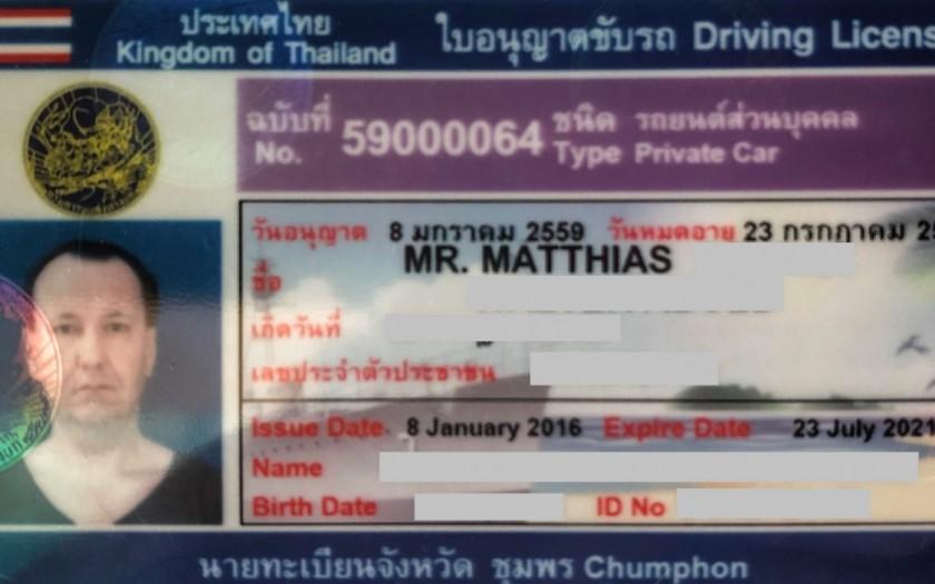 Thailändischer Führerschein Chumphon, Internationaler Führerschein für Thailand problematisch