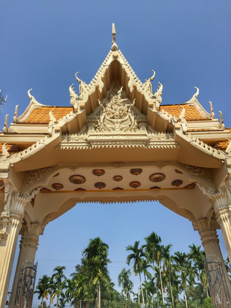 Eingangstor Tempel in Chumphon