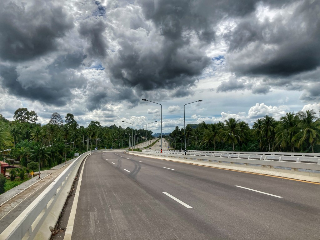 Straßenbau, neue Strassen in Chumphon 5