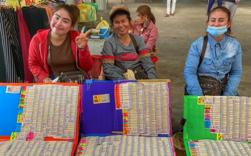 Lotto Verkäuferinen Chumphon Thailand