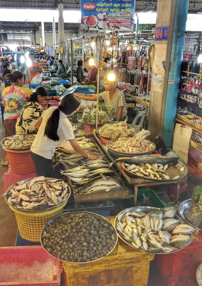 Markt in Chumphon, Thailand 1
