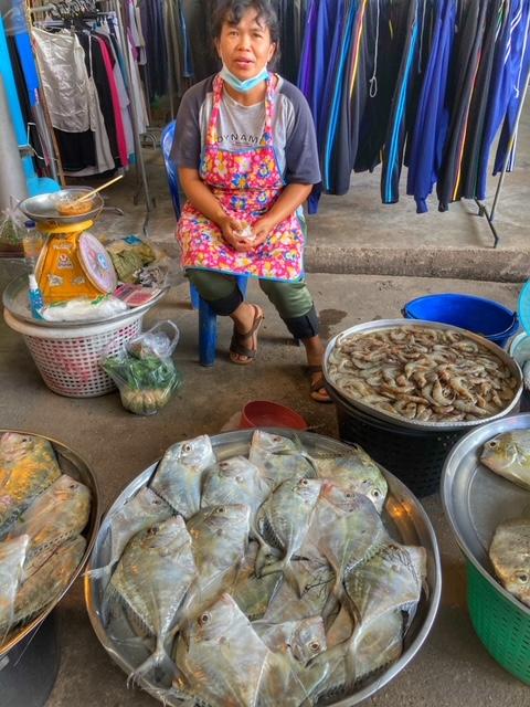 Markt in Chumphon 24, Thailand