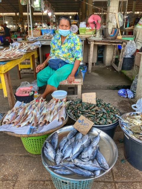 Markt in Chumphon 29, Thailand