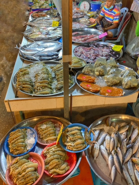 Markt in Chumphon 41, Thailand