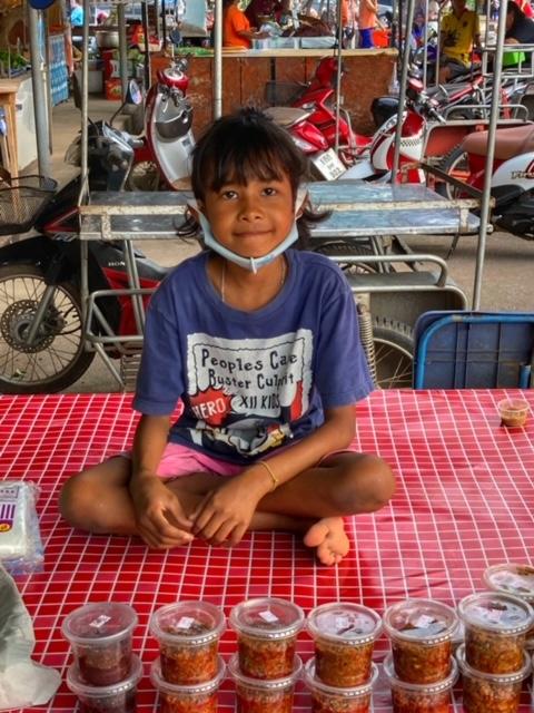 Markt in Chumphon 43, Thailand