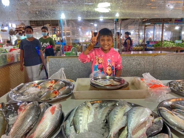 Markt in Chumphon 57, Thailand