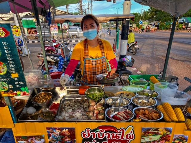 Markt in Chumphon 8, Thailand