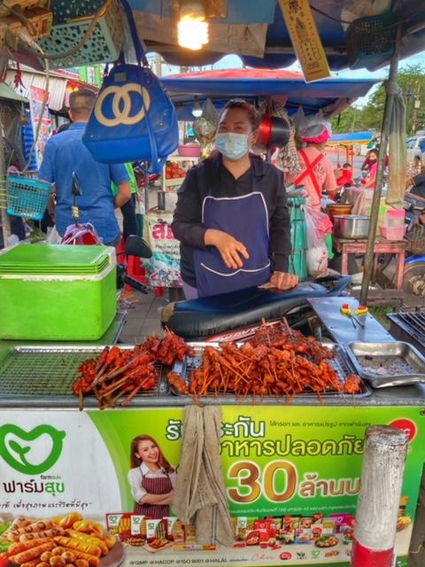 Markt in Chumphon 9, Thailand