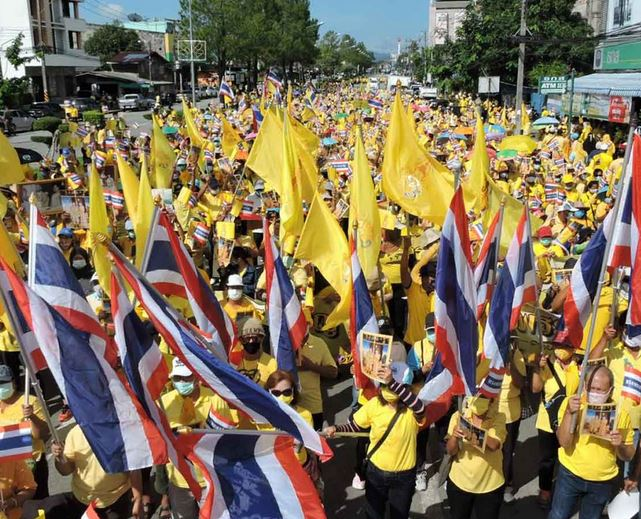 Pro Monarchie Demonstrationen in Thailand