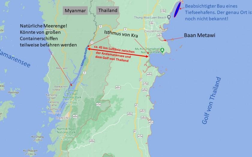 Isthmus von Kra, leben in Thailand
