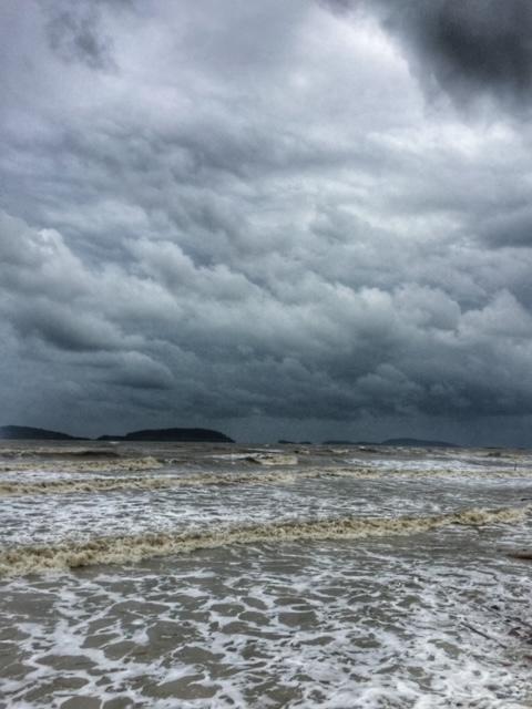 Meer, Regenzeit, Monsunklima, Chumphon Thailand