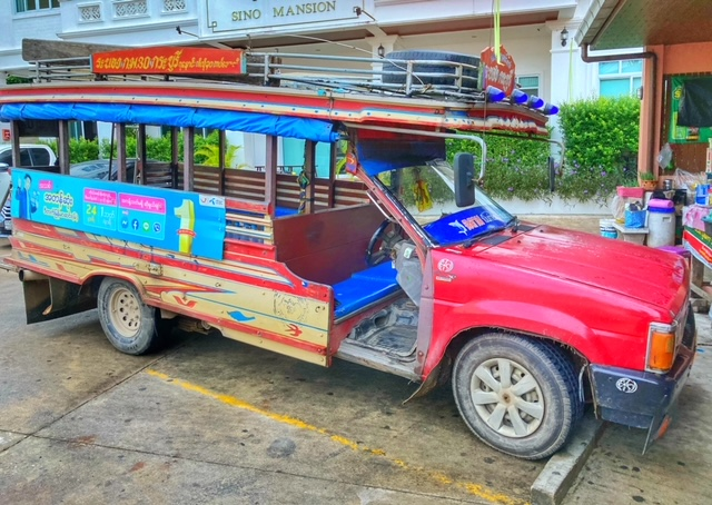 Holzbus in Ranong