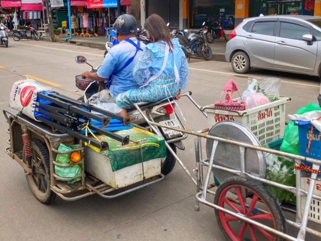 Soloselbständig Verkaufsstand Chumphon Thailand