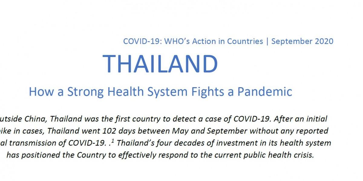 Thailand WHO Covid-19 Report. Medien, Qualitätsmedien über Thailand