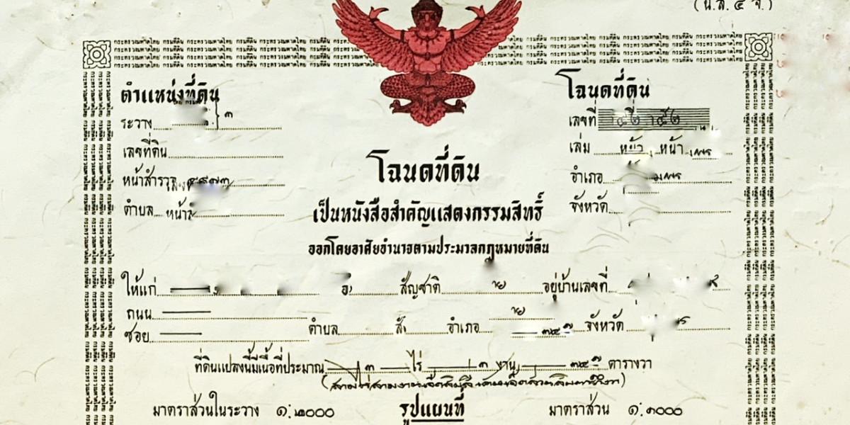 Chanote Geld Thailand Immobilien kaufen Ausländer