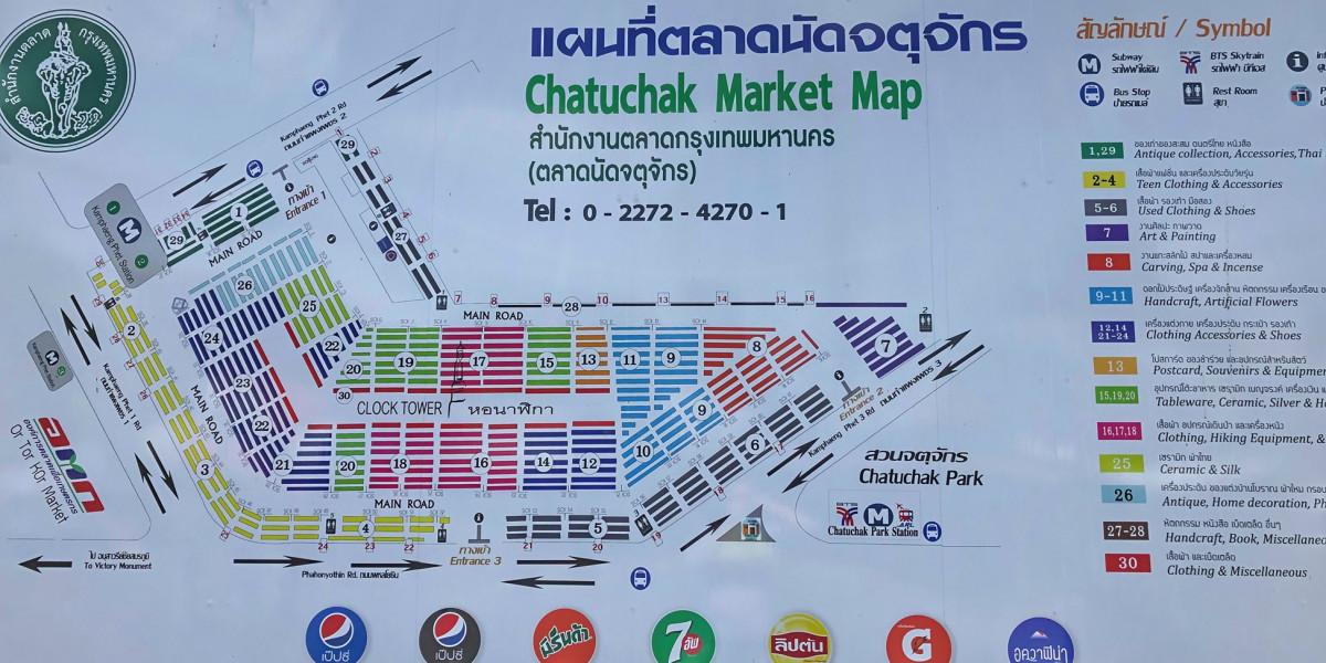 Chatuchak Wochenendmark Bangkok Plan