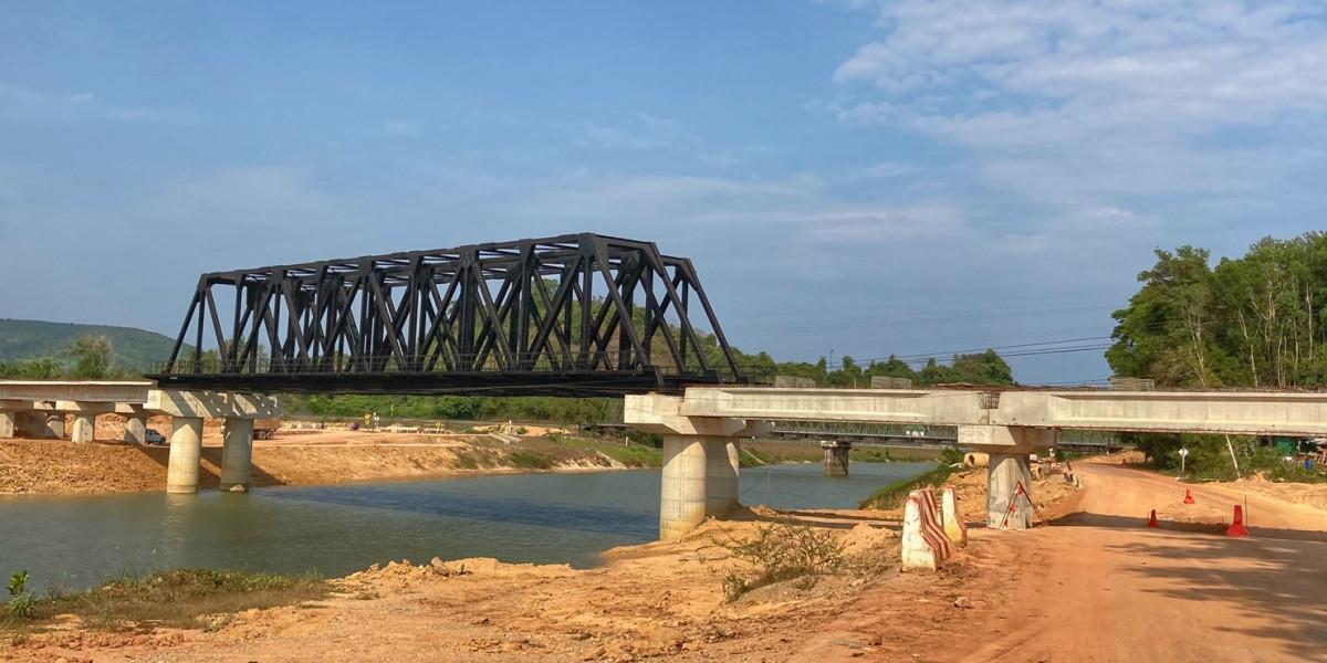 Infrastruktur Thailand, neue Eisenbahnbrücke Chumphon