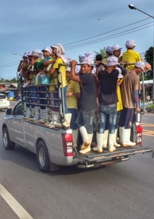 Erfahrungen Blog Thailand Arbeiter zur Fabrik Chumphon Thailand