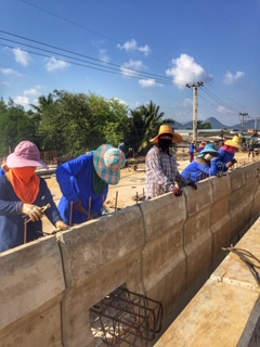 Bauarbeiter Frauen Straßenbau Chumphon Thailand