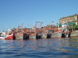 Hafen Chumphon vom Kajak aus