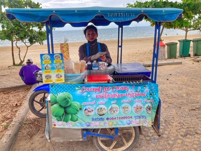 Saläng Moped Beiwagen Thailand Eisverkäufer