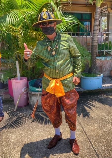 Songkran 2021 Chumphon Thailand spontan am Haus