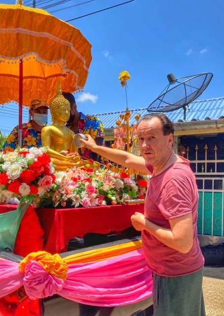 Songkran 2021 Chumphon Thailand spontan ohne zu planen