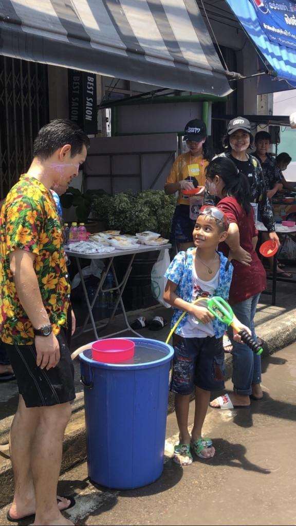 Wasserschlacht Thailand