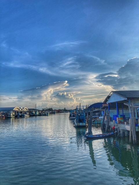 Abendstimmung Chumphon Hafen Thailand