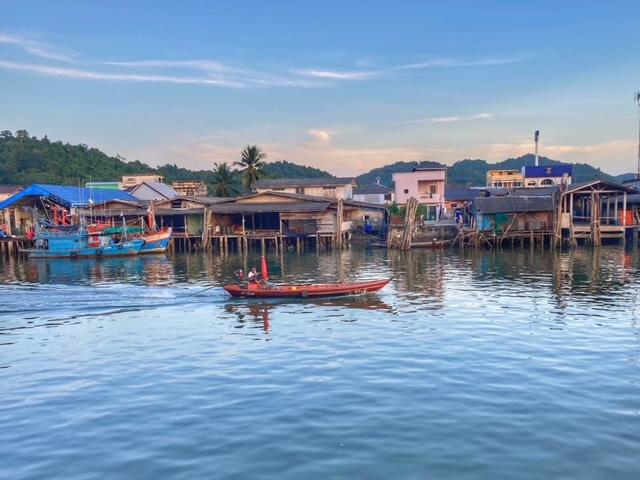 Abendstimmung Hafen Pak Naam Chumphon Thailand
