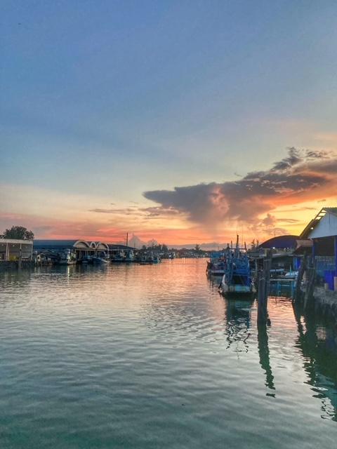 Abendstimmung Hafen Chumphon