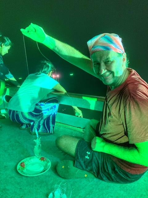 Anglerglück Tintenfisch angeln Chumphon, Thailand
