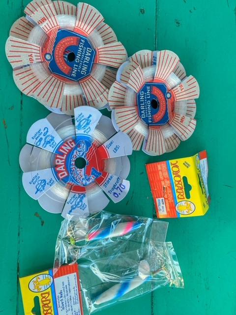 Ausrüstung angeln Tintenfisch Chumphon Thailand