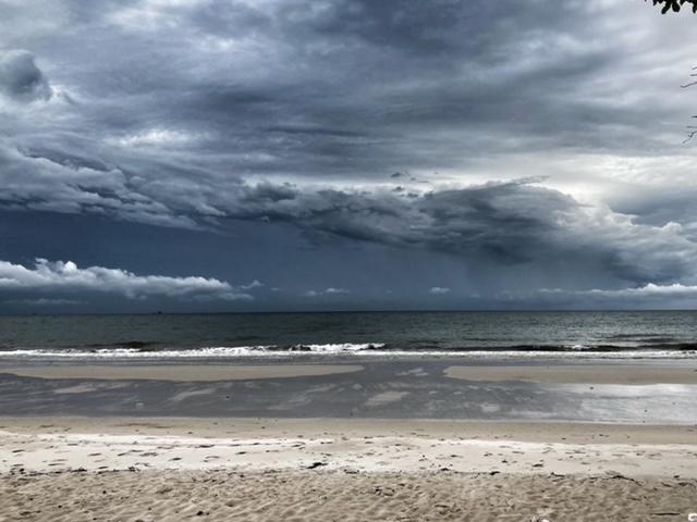Gewitterwolken, Strände Chumphon Thailand