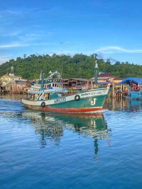 Hafen in Chumphon Thailand
