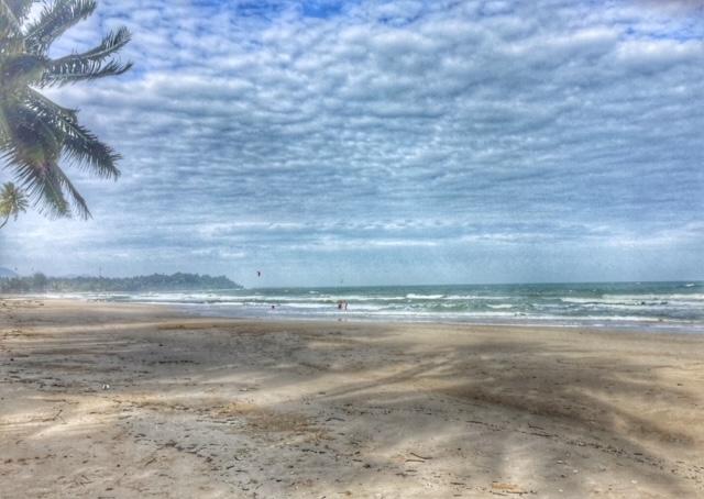schöner Strand um die Ecke