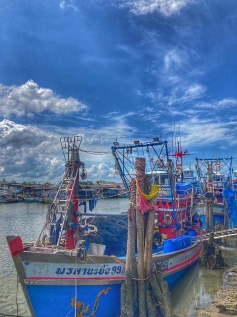 Fischerboote in Pak Naam Chumphon