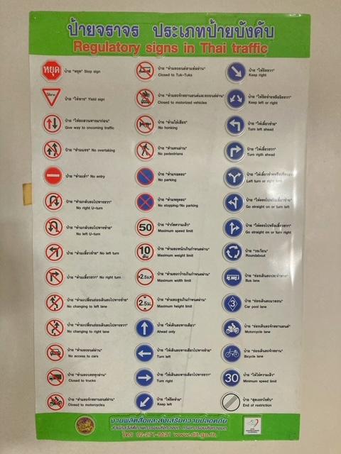 Verkehrsschilder Thailand Führerschein Verlängerung