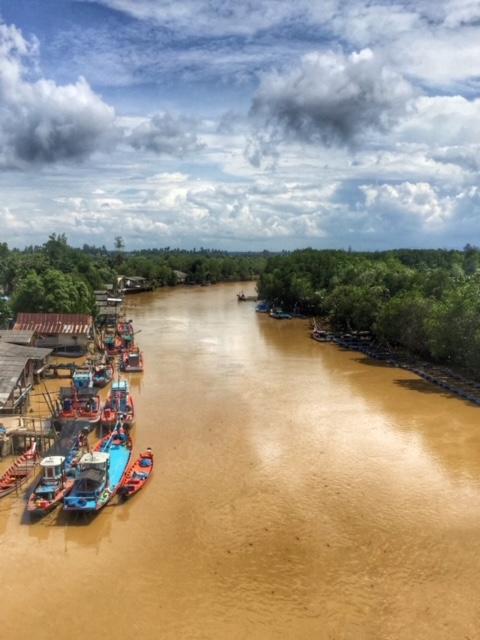 Flussmündung Chumphon Thailand