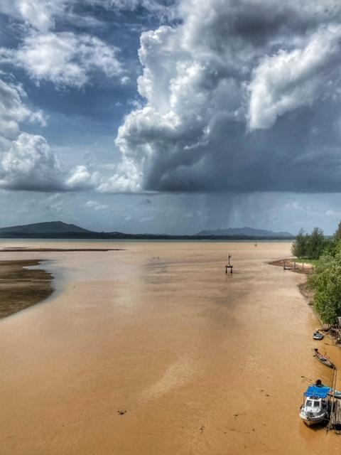 tropisches Monsunklima, erdreiches Flusswasser mündet in den Golf von Thailand